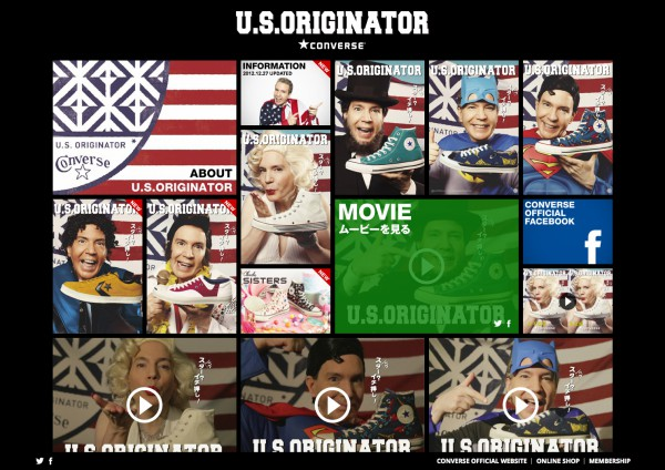 CONVERSE U.S.ORIGINATOR Website 2012
