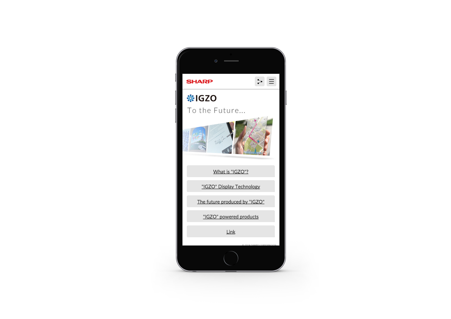 IGZO Official Smartphone site 2014