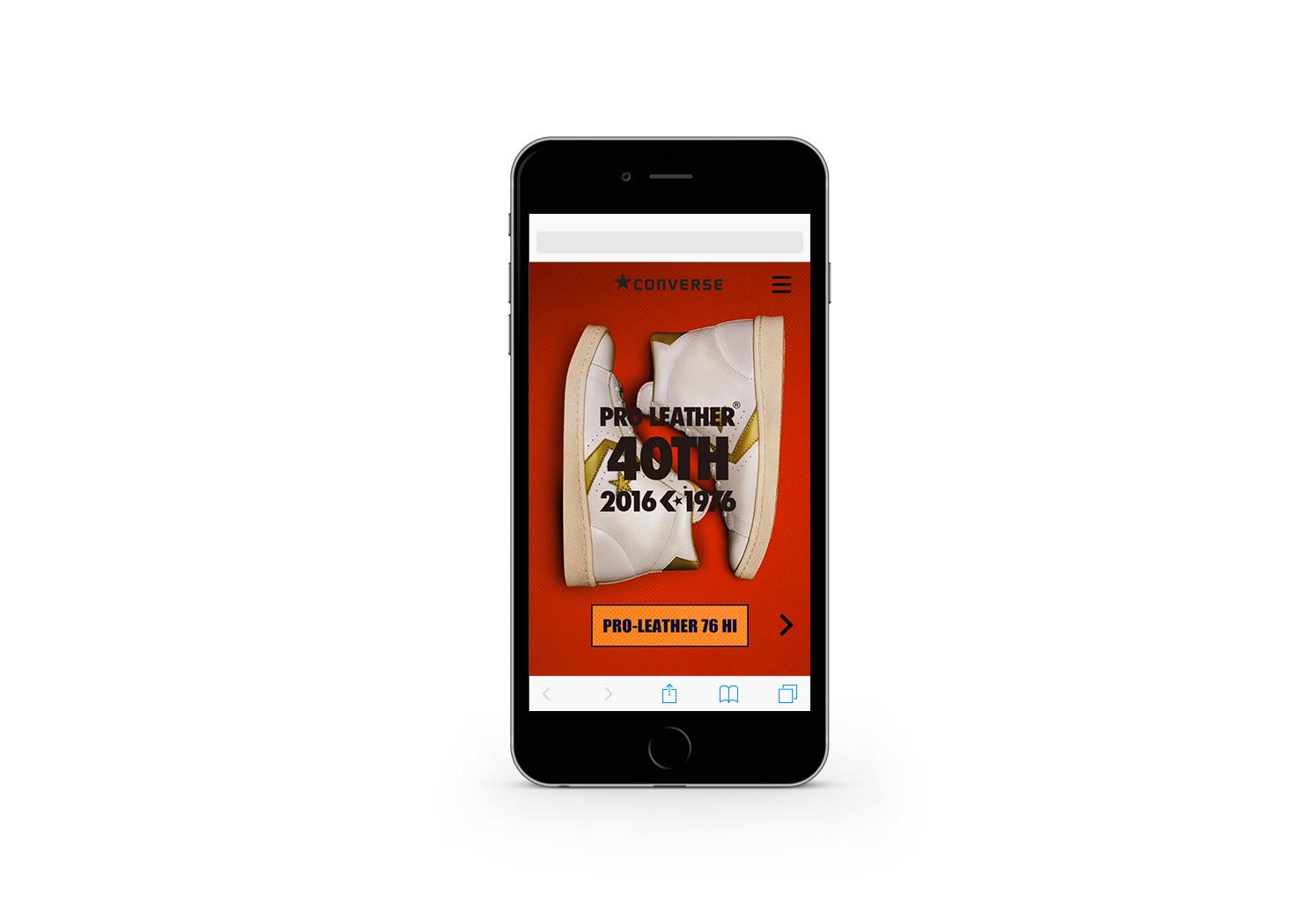 CONVERSE PRO-LEATHER 40TH Smartphone site 2016