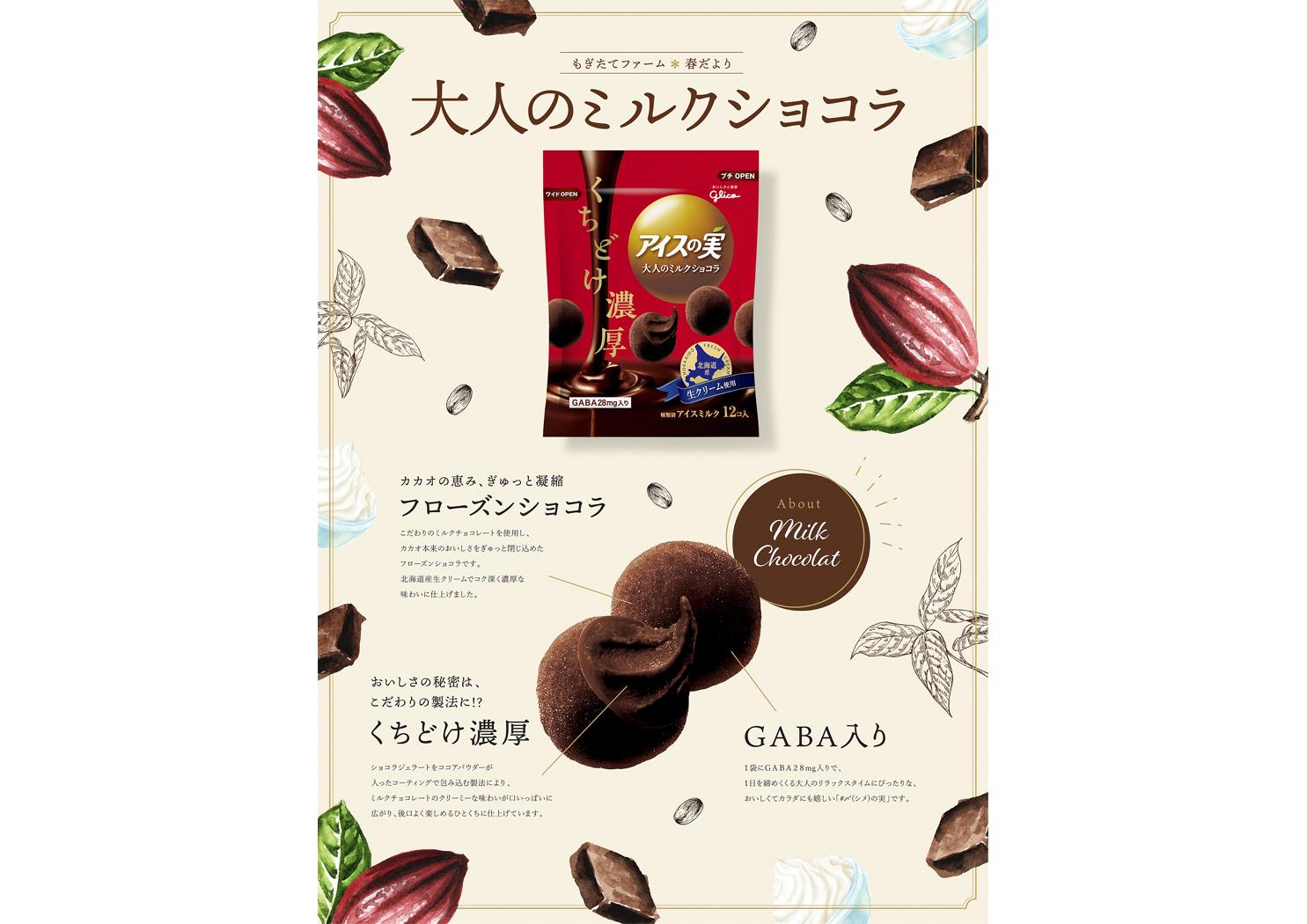 Glico icenomi milk chocolate
